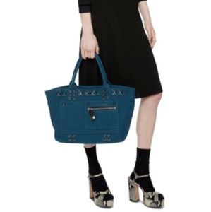 NWT Marc Jacobs Studded Teal Tote